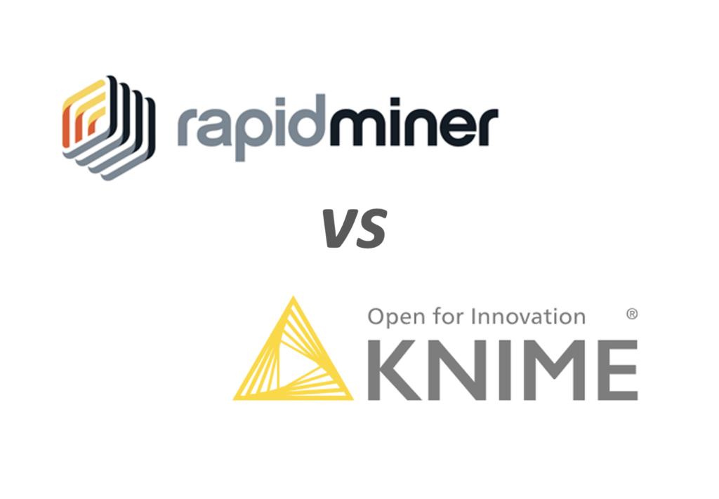 RapidMiner vs KNIMEイメージ